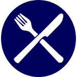 restaurant and takeaway icon