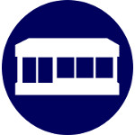 retail office and surgery insurance icon
